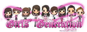 SNSD-GIRLS' GENERATIONchibi by squeegool