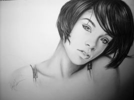 Rihanna charcoal drawing by desiangel1