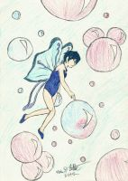 Bubbles and Fairies (colored) by Kage-Kyoodai