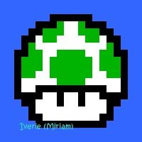 16 Bit 1up Mushroom by iverie