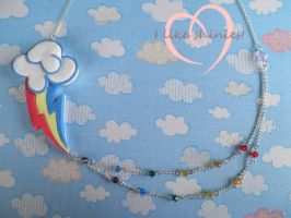 Rainbow Dash Necklace by ilikeshiniesfakery