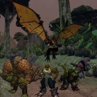 Champions Online: Extreme Dinosaurs Costumes by RichardVale