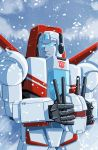 Jetfire in snow commission by MachSabre