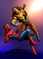 Spidey vs. Kraven color by joaoMachay