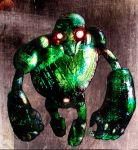 green goliath by puffychin by Robot-drawing-club