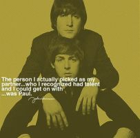 Quote by John, about Paul by ximrealynotokayx