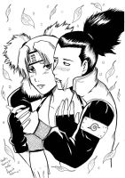 Temari and Shikamaru by Clueedo
