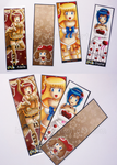 Laminated Bookmark Examples by izka197
