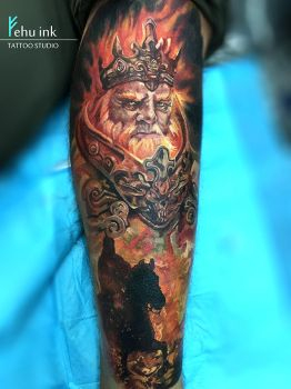 Fire King tattoo by ellegottzi