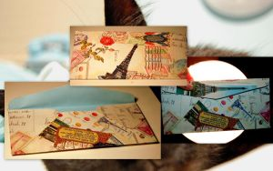 French Inspired Envelope by FatCatCharms