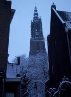 Amersfoort coverd in snow by Mneon
