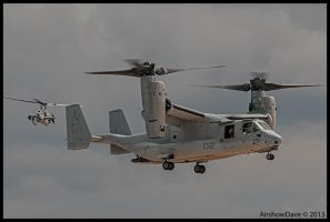 Miramar Look Back II Osprey and AH-1Super Cobra by AirshowDave