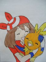 May and Torchic by AJLeefan4life