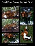 Red Fox Posable Art Doll by Eviecats