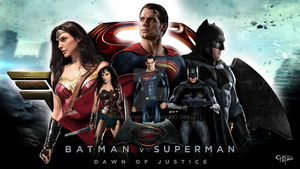 Batman, Superman and Wonder Woman - Wallpaper by LoganChico