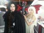 Jon Snow and Daenerys Targaryen cosplay by ShanaAmu