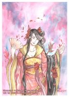 Mini Watercolor - Scarlet Lily by Luciana-Lu