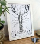 Ink drawing of a lobster by megapowerskills