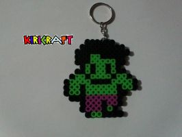 hulk perler beads by kiri-chan1990