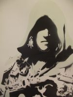 Edward Kenway Stencil (on A3 paper) by ThisUllysses