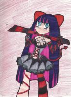 devil stocking by zchick121