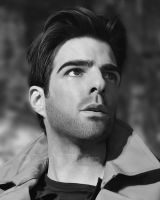 Zachary Quinto - Painting by AlienFodder