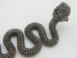 Rattler Maille Sculpture2 by BorealisMetalWorks