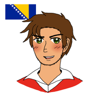 [APH OC] Bosnia adjusted design by melonstyle