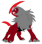Amara my Female Absol by crystal116