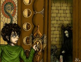 Harry Sneaking on Snape color by PrimeHunter