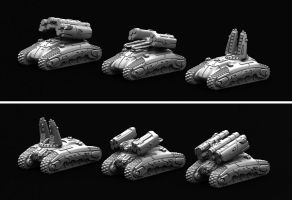 Marhaf Legion Support tank (all variants) by Hongablaster