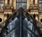louvre pyramid by salleephotography