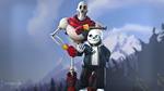 SFM Poster: Pappy and Sans by PatrickJr