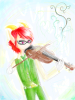 A More Green Violinist by Sizab
