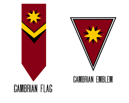 Cambrian Flag and Emblem by KingWillhamII