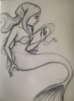 Sketch-a-Day: more mermaids! by INOAS