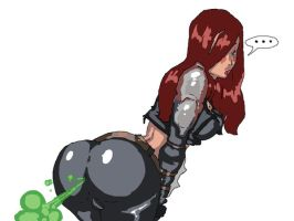 REQUEST: Katarina Farting by Lazei