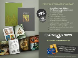 74 pages softcover portfolio PRE-ORDERS open! by Nimrais