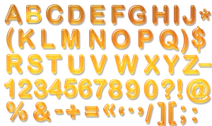 Honey letters PNG by sodadnima