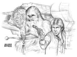 Han and Chewie AP - Preliminary Sketch by Erik-Maell