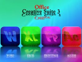 Office Creative Suite 3 icons by klen70