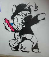 Banksy Pie on my wall by M99moron