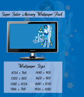 Super Sailor Mercury Wallpaper Pack by Sigma-Astra
