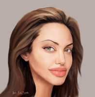 Angelina Jolie Caricature by jantheempress
