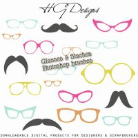 PS Brushes: Glasses And Staches by HGGraphicDesigns