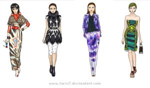 Fashion illustrations by Lucis7