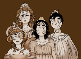 Pimple Royal Family Portrait by AskPimplePrincess
