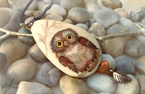 Little owl - necklace by AlviaAlcedo