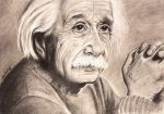 Albert Einstein A3 charcoals finished by jintyandrayne
