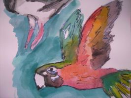 Parrot Painting by SatineChristian